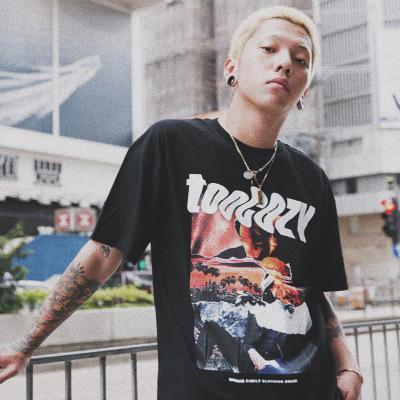 Mode homme T-shirts 2020 Summer Street Hip-hop femmes Tide hommes T-shirts Loose Women oversize imprimé à manches courtes T-shirts Tops