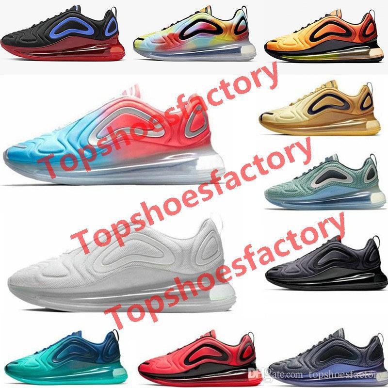 Nike air max 720 shoes airmax 720 يل البحرية 2019 النساء والرجال الاحذية يكون صحيحا الذئب الرمادي جامعة البحر فلاش غابة نفسية مسحوق فولت المتسابق الأزرق رجال الرياضة أح