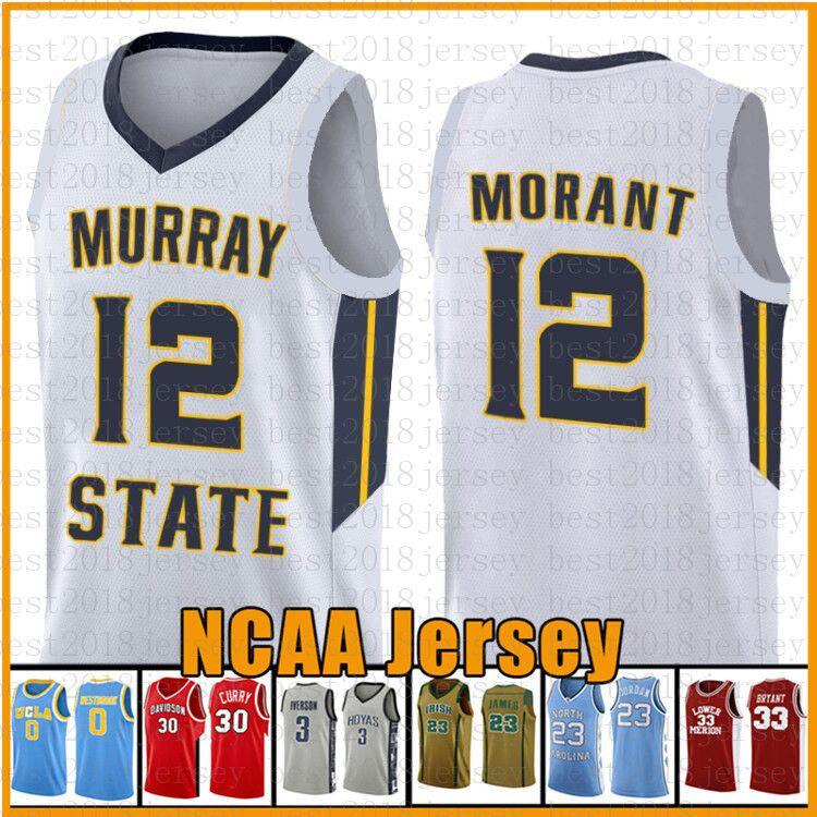 Morant Murray State Racers Universität 35 Kevin Jarrett 23 Culver Durant NCAA Basketball Jersey 23 James 2 Leonard 3 Wade 11 Irving 30 Curry