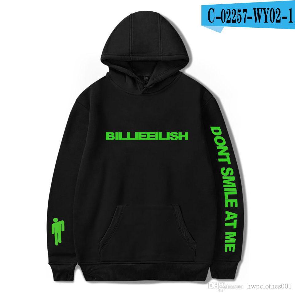 2020 Girl Singer Billie Eilish carta luxo designer hoodie de moda marca de alta qualidade hip hop para o hoodie 2xs- tamanho das mulheres dos homens
