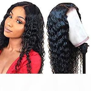 Глубокий парик волны 360 Lace Фронтальная человеческих волос Парики Pre Сорванные с волос младенца Необработанные бразильского Виргинские человека 150% Плотность 360 Lace Fron