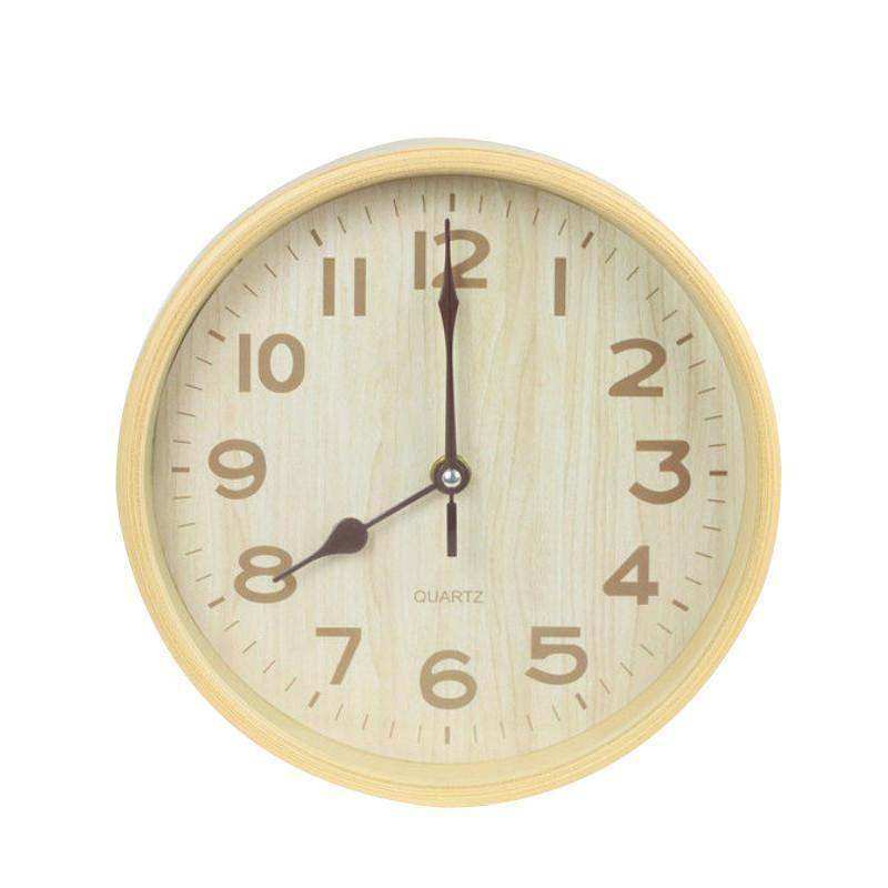 Hot Sale Large Wall Clock Modern Design Imitation Wooden Hanging Vintage Silent Wall Clock Decor Watch Wood Home Decor