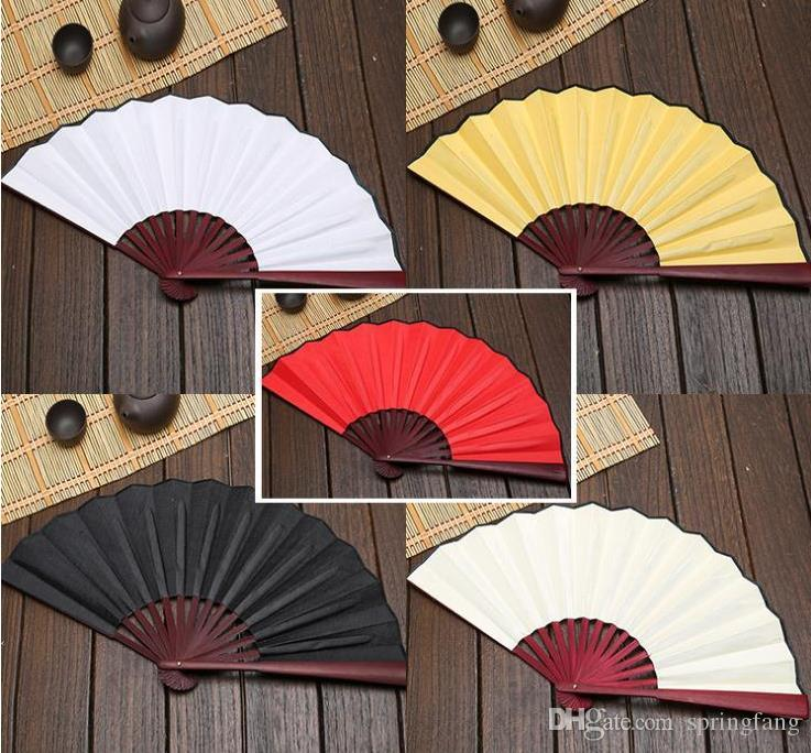 Large 33cm Folding Fan Black White Cloth Wooden Hand Fans DIY Craft Art  Planting Ornaments Mens Outdoor Handfan SN205 Party Favors For Birthday  Party Favors For Boys From Springfang, $1.88  DHgate.Com