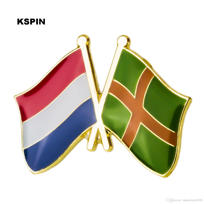 네덜란드 Nijmegen 우표 플래그 배지 금속 옷 깃 핀 브로치 쥬얼리 의류 XY0270