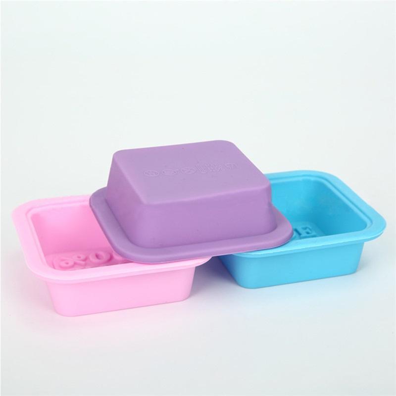 100% a mano make tortiera in silicone sapone fai da te facile rilascio di muffa stampo quadrato Pasticceria stampo manuale Sapone