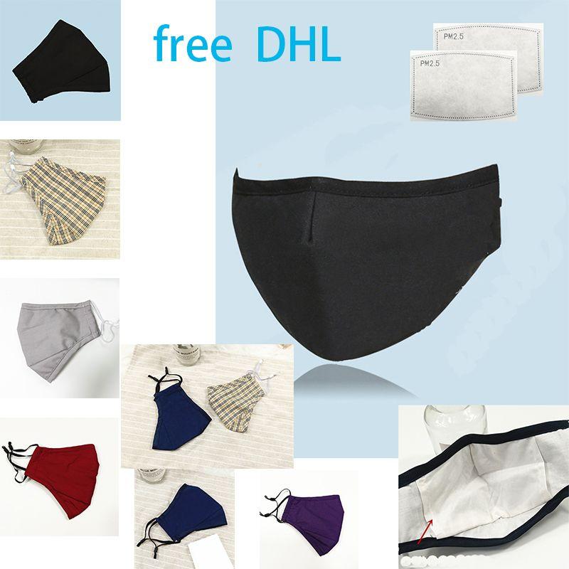 máscaras de algodão protectoras de freeDHL impermeáveis e pluggable filtros anti-neblina fácil de respirar máscara de boca whosale