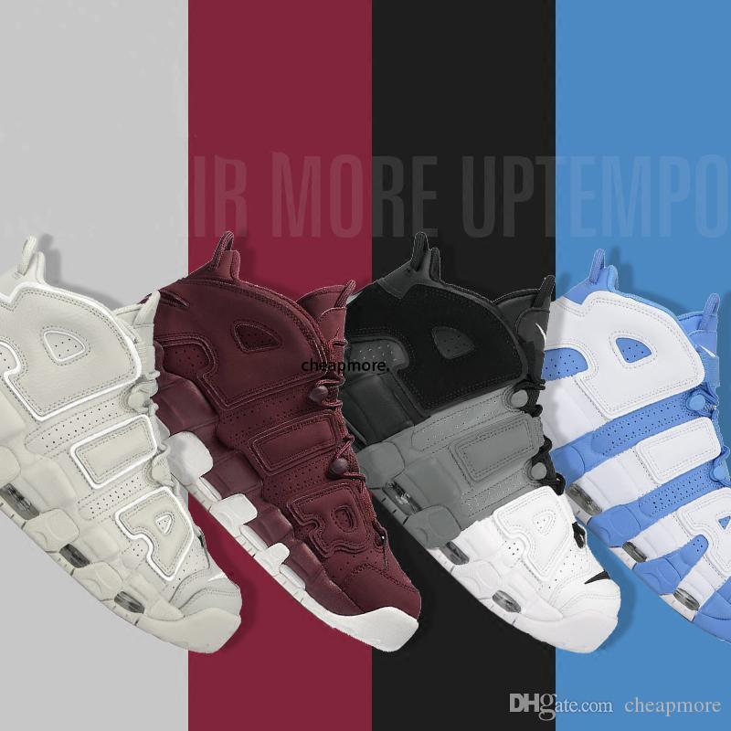 [Avec boîte] plus bas prix Uptempo Chaussures Rouge Noir Or Chaussures de basket-ball pour Casual 3M Fashion Sneakers Scottie Pippen Sport Chaussures US8-13
