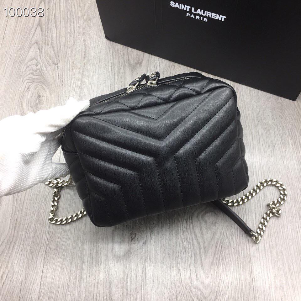 Original Schafsfell Designer-Handtaschen der Qualitätsfrauen Beutel echtes Leder Rechteck Reißverschluss Silber Kette Schultertasche 454317