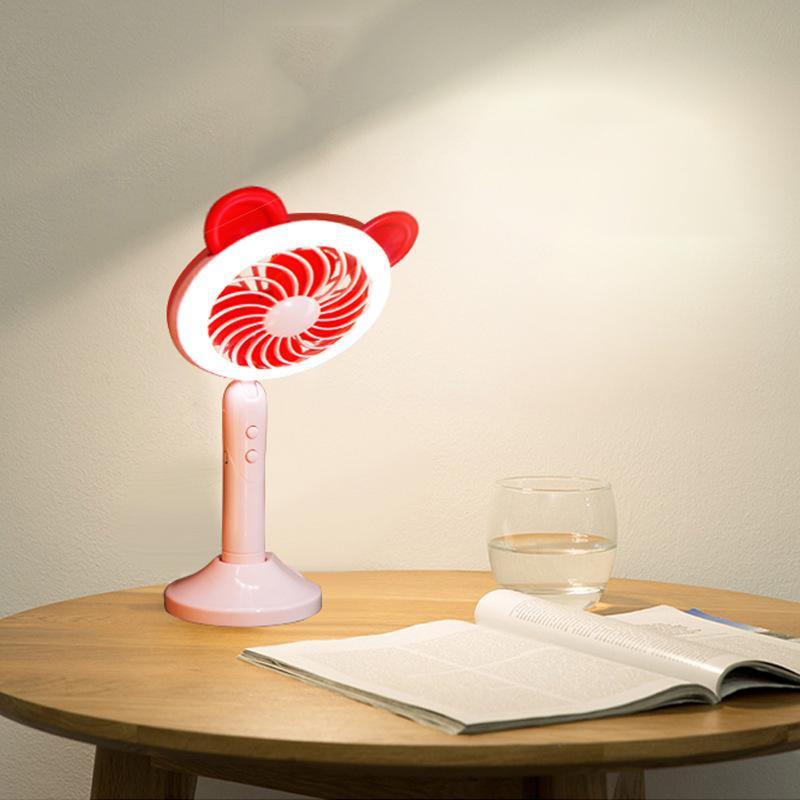 Cartoon Mini-Tischlampe Ventilator Desktop usb kleiner Ventilator tragbares Handy Halterung fan 1 pc