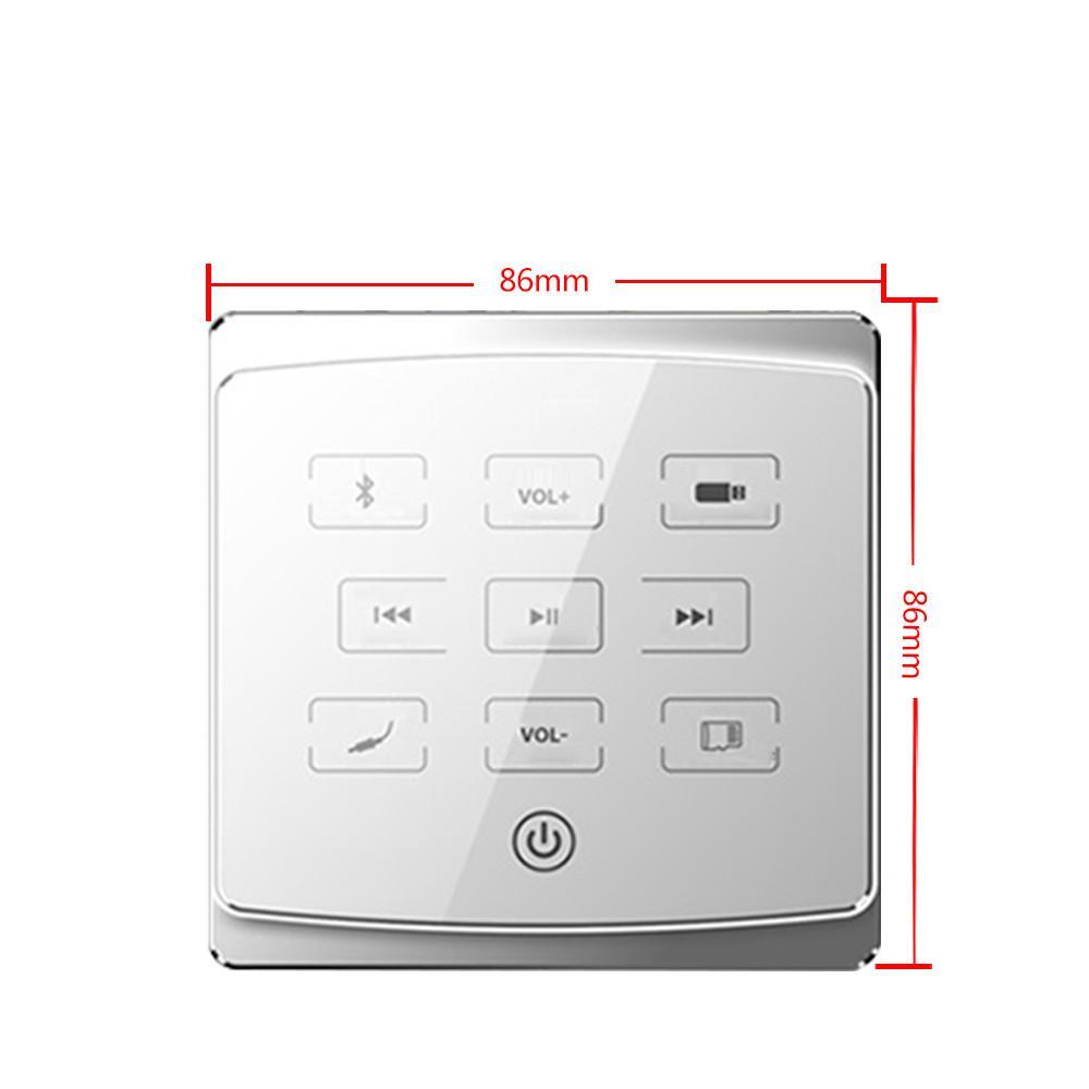 FreeshippinSmart Hôtel chambre Accueil Bluetooth audio lecteur en paroi amplificateur numérique stéréo 86 monotouche musique de fond contrôleur USB TF FM