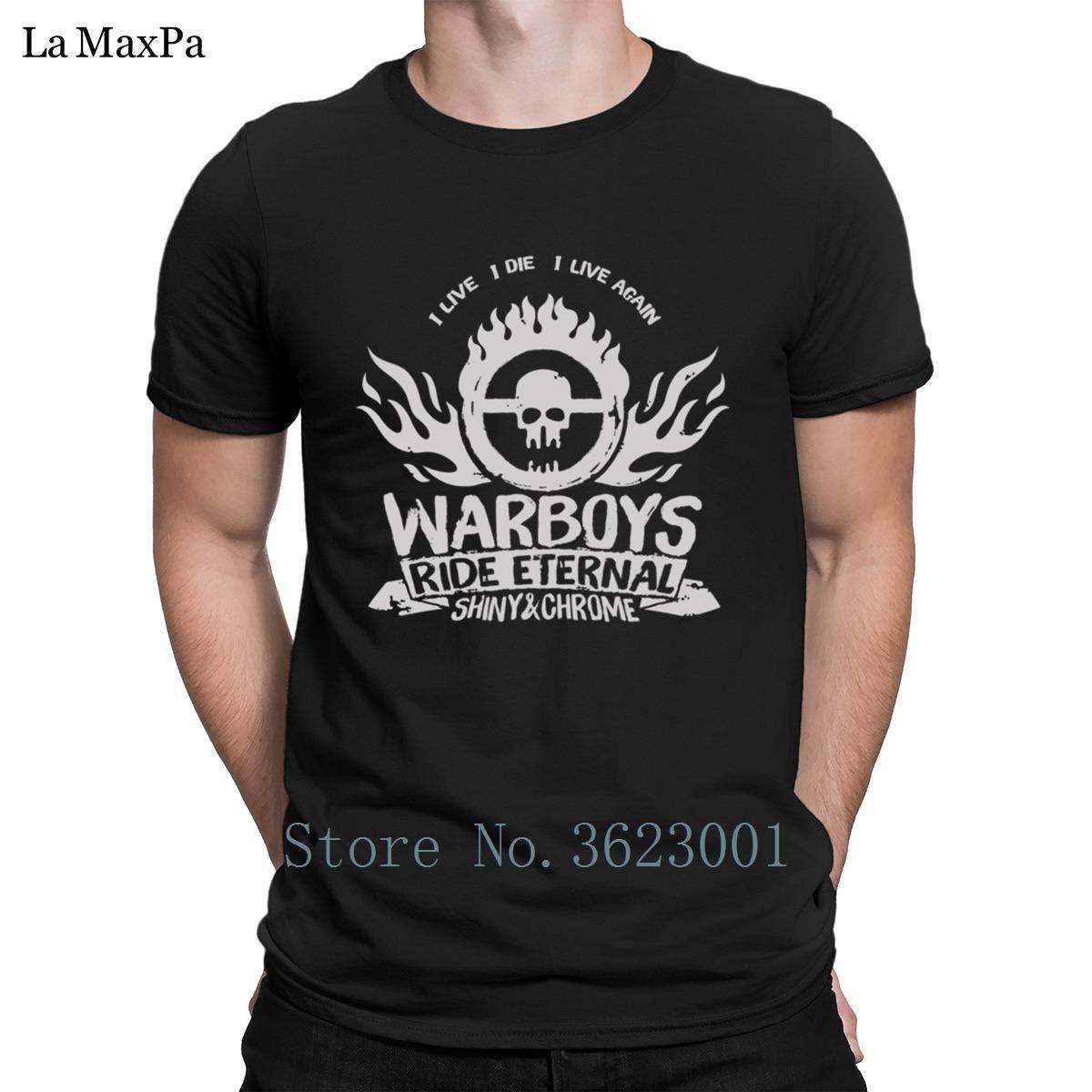 Новые Прохладный футболка 2018 Mad Max I Live I Die I ожили Warboys T-Shirt для мужчин Great Great Men тенниска O-Neck Tee Shirt Свободном