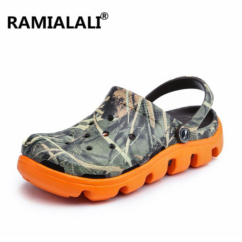 Homens sandálias confortáveis Mens Praia Sandals memória espuma macia Shoes Jardim casual para homens deslizamento em Sapatos de trabalho