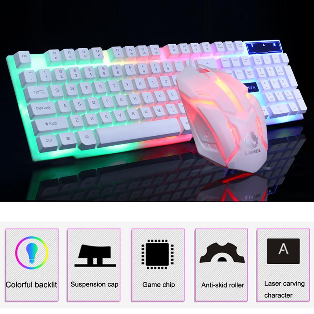 D280 Italiano Gaming Keyboard Retroilluminato con LED RGB Colorful KeyCaps Tastiera illuminata Gamer simile MECCANICO Feel meccanico Ye2.22
