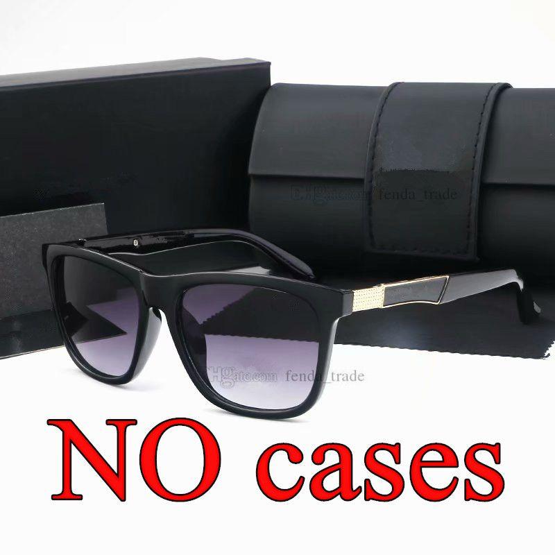 Modedesigner-Sonnenbrille-Frauen Marke Platz Männer Sport PC-Rahmen Sonnenbrillen Schwarz Taukappen UV400 Leopard 4 Farben 10PCS schnelles Schiff