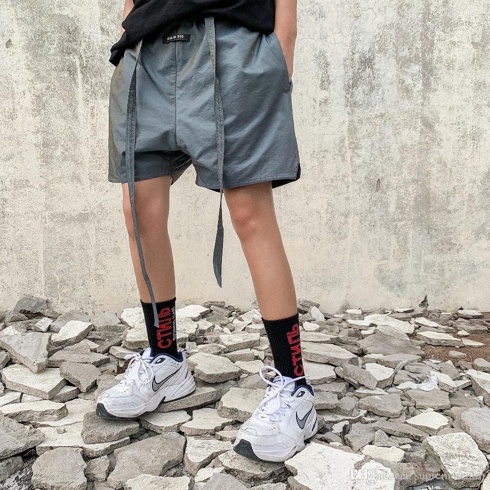 Страх Божий 6th dazzle color Drawstring Shorts туман уличный скейтборд мода повседневная открытый короткие свободные брюки летние пляжные шорты