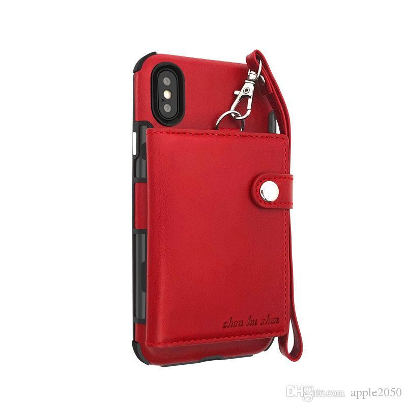 حالة الهاتف حالة جلدية مغناطيسية ل iphone11 8 xs ماكس سامسونج ملاحظة 10 حالة متعددة الوظائف سستة المحفظة الساخنة