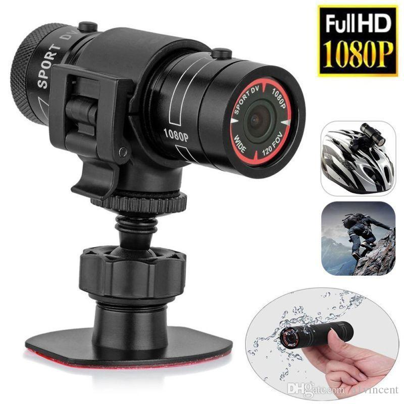 F9 Mini Bike impermeable cámara HD casco de la motocicleta deportiva acción se produjo vídeo DV videocámara Full HD 1080p video del coche