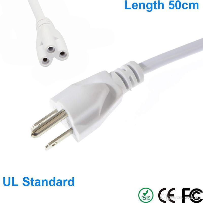 3 púas cables con clavijas de Estados Unidos o LED tubo de luz del cable de alimentación del enchufe de CA T5 T8 integrados tubos de LED 3 Prong 100cm Cable