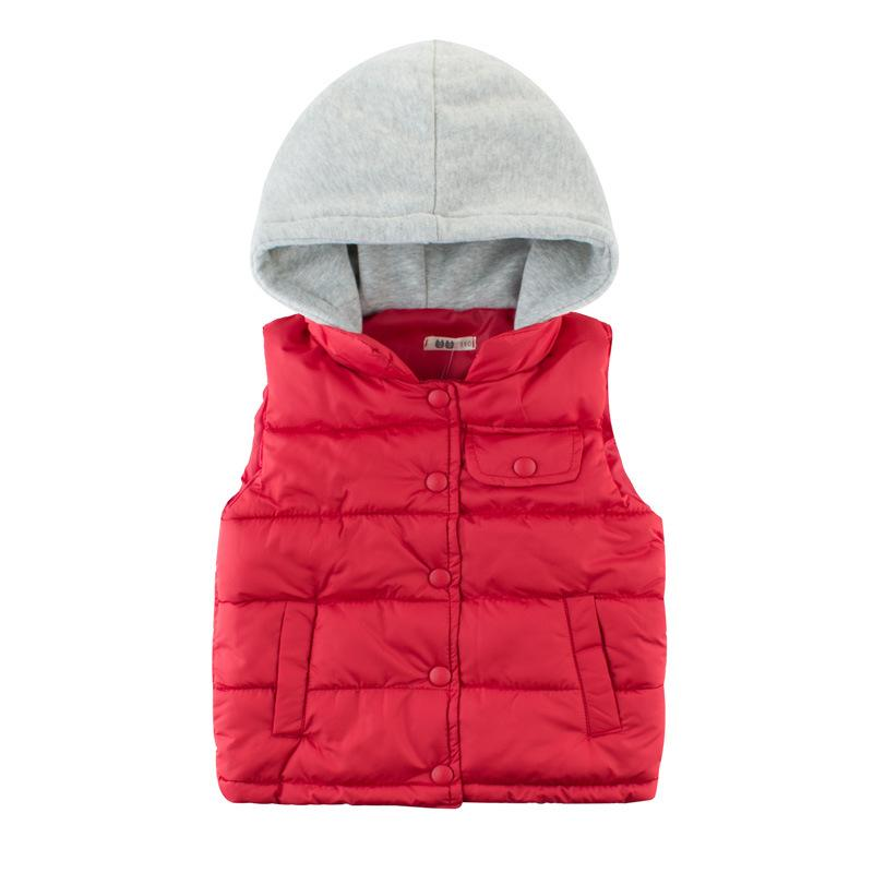 Winter 2019 New Children Girl Boys Baby Winter Warm Coats Vest Zipper Thick Hoodie Outerwear