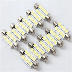 10pcs / lot Super White Dome Festoon LED voiture Ampoule LED Lampe 41mm 8 SMD Canbus Auto Bulb voiture