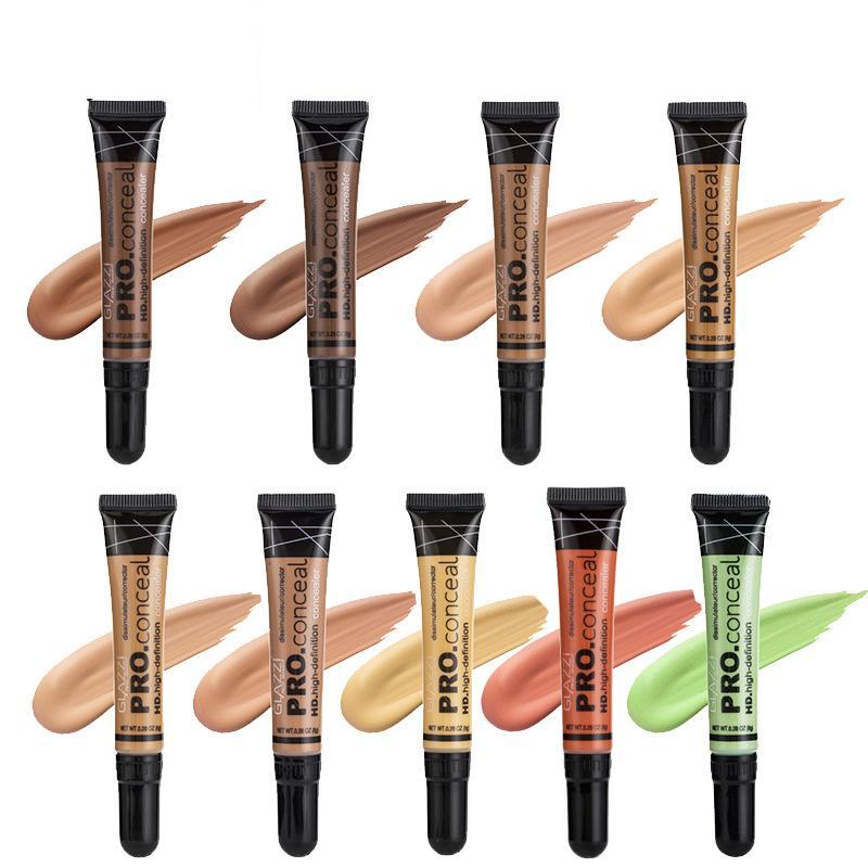 Marque filles correcteur de mode 9 couleurs 16g doux longue tenue imperméable à l'eau liquide fond de teint crème femmes maquillage pour les yeux et le visage