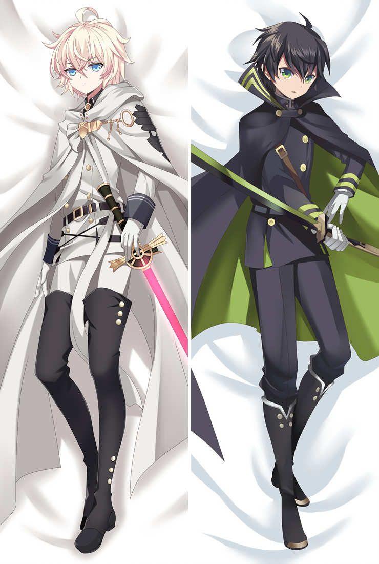 Owari no Seraph anime Personajes krul tepes hiiragi shinoa funda de almohada hyakuya mikaela yuuichirou body Funda de almohada Dakimakura