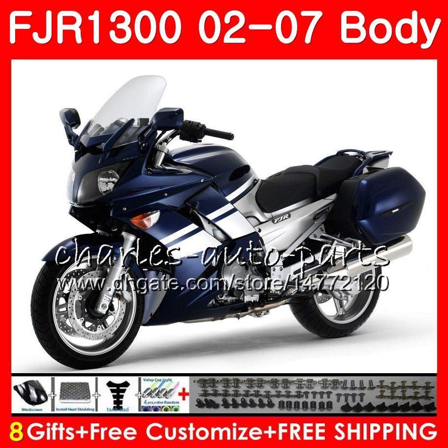 Body For YAMAHA Blue silvery new FJR-1300 FJR1300 01 02 03 04 05 06 07 FJR1300A 120HM.7 FJR 1300 2001 2002 2003 2004 2005 2006 2007 Fairing