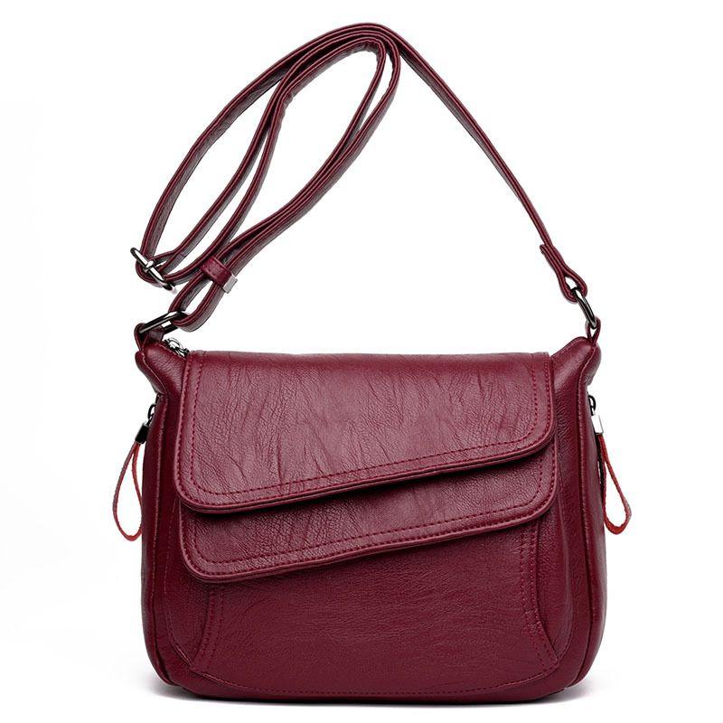 حقائب الكتف الفاخرة المرأة الصغيرة حقيبة حقيبة crossbody لسيدة الصلبة بو الجلود شارع أزياء المرأة حقيبة WJJDZ