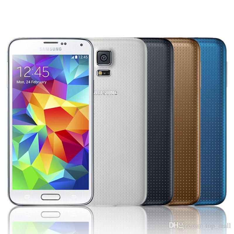 Recuperado Original Samsung Galaxy S5 G900A G900F G900T Quad Core 5.1 '' Telefone 16MP Câmera GPS WIFI celular
