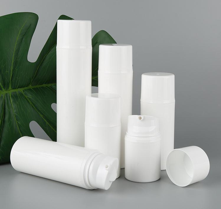 100pcs 30ml 50ml 80ml 100ml 120ml 150ml bianco PP bottiglia senz'aria bottiglia pulsometro utilizzato per contenitore cosmetico SN290