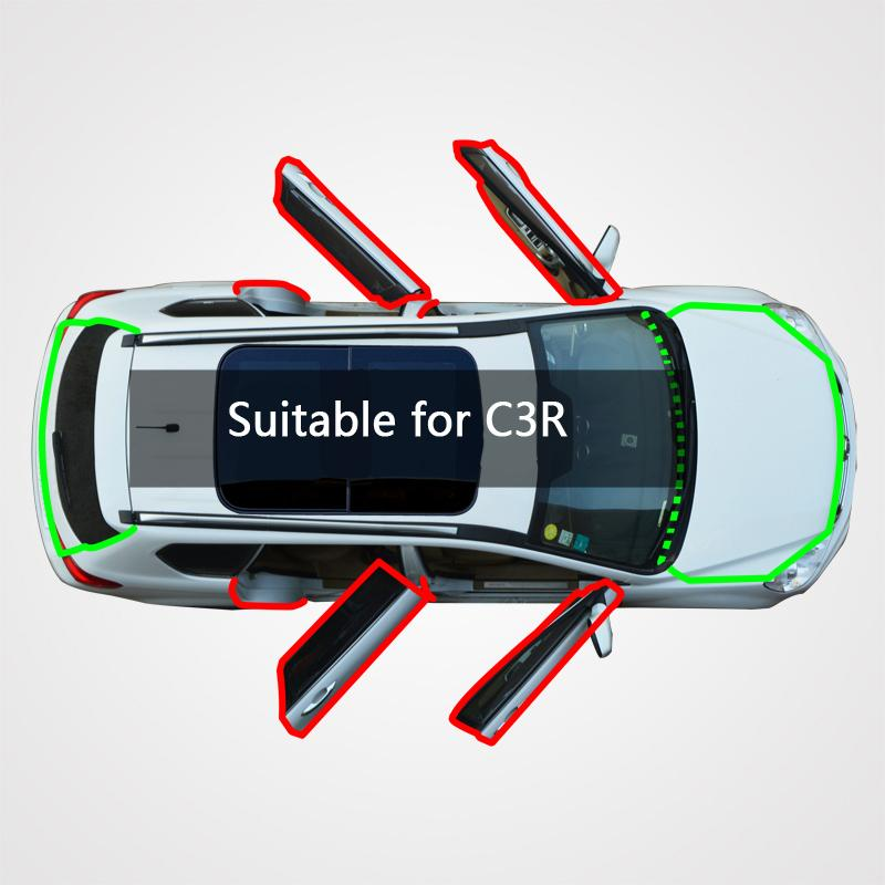 Pour Qirong voiture C3R, bande d'étanchéité en caoutchouc modifié est utilisé pour insonorisée, antipoussière et la réduction du bruit