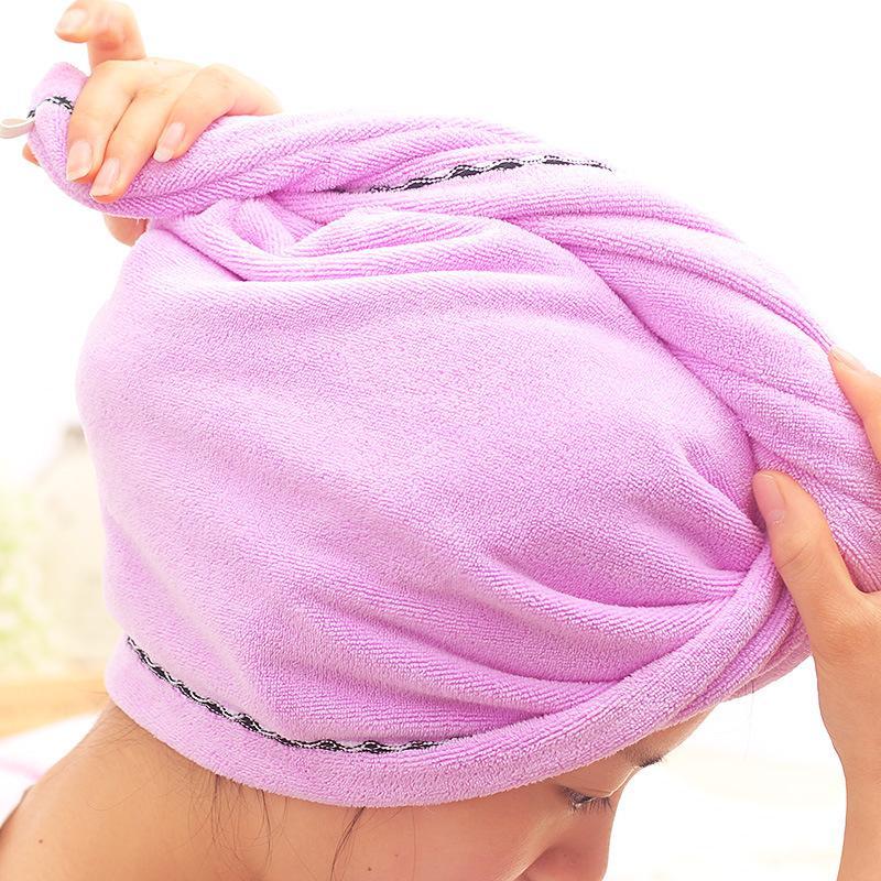 65 * 23cm cheveux super Absorbent serviettes cheveux en microfibre à séchage rapide serviette Chapeau Grand Thicker à sec Bain à sec Femmes Cap