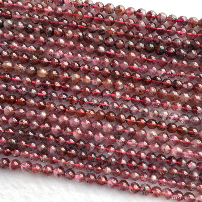 """خصم الجملة حقيقية بيربل الطبيعية الأحمر Auralite 23 سوبر 23 كريستال جولة الصغيرة الخرز فضفاض في 4mm 5mm 6MM """"15.5 06049"""