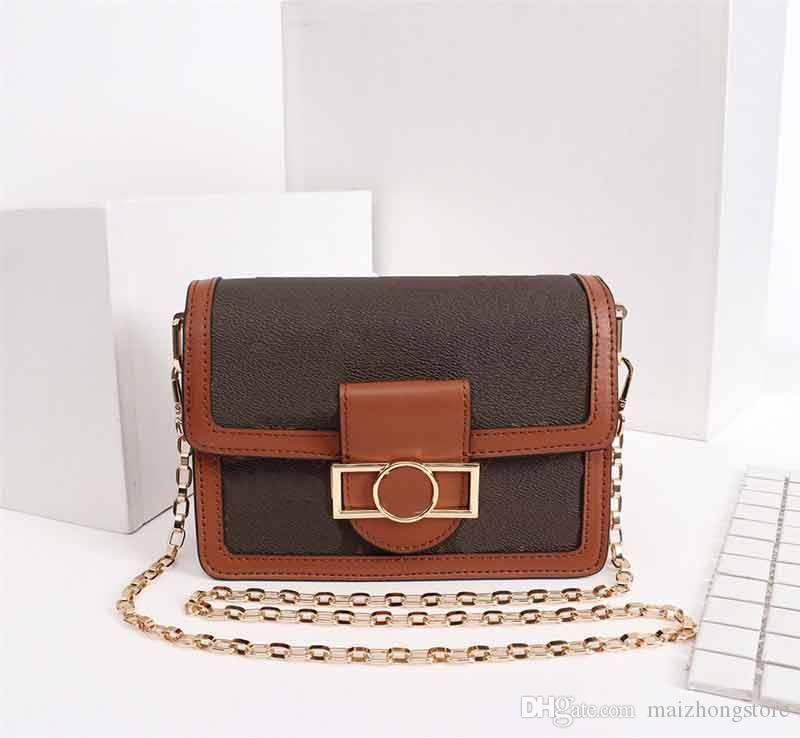 Designer Luxus-Handtasche L Blumenmuster DAUPHINE M43599 Kettenbügel Schulter diagonaler Damen Handtasche Tasche