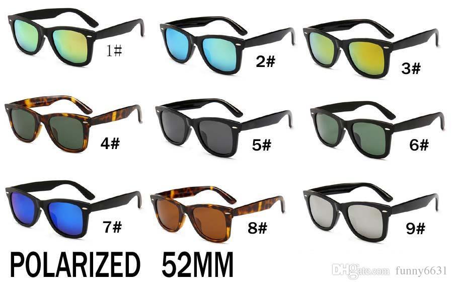 estate più nuova Moda all'aperto occhiali da sole polarizzati Per uomo e donna Sport occhiali da sole unisex Occhiali da sole telaio nero 52mm SPEDIZIONE GRATUITA