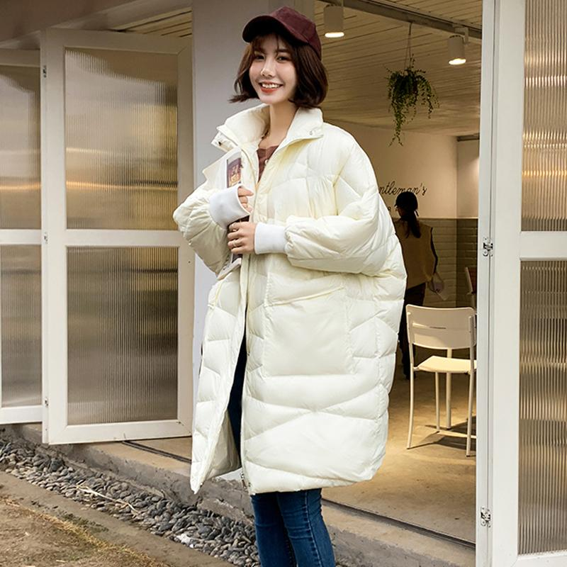 Oversize 90% White Duck Down Jacket 2019 Winter Coat Women Loose Long Down Jackets Pregnant Coat Puffer Jacket Women Snow Parka