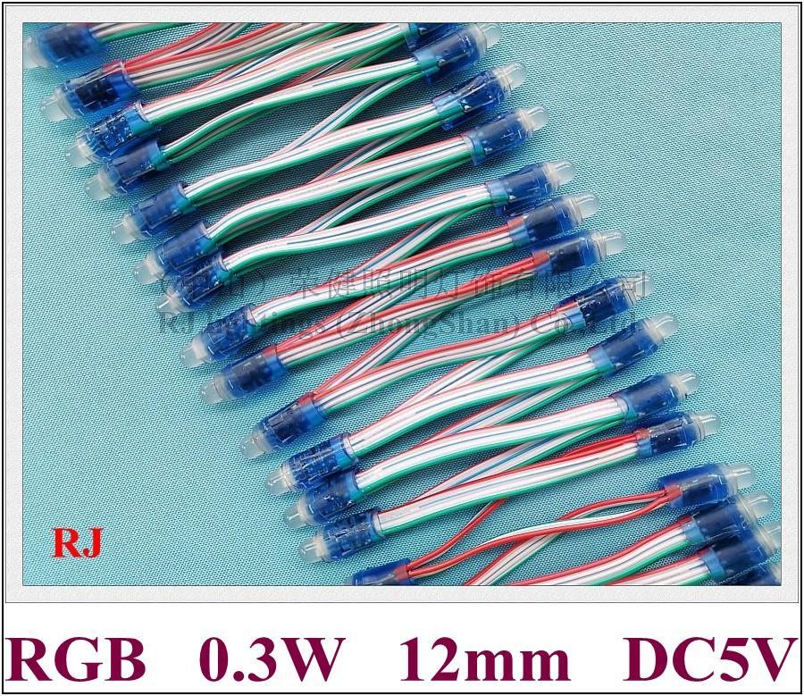 LED-blootgestelde lichtkoord voor kanaalletter LED PIXEL LICHT MODULE DC5V 0.3W RGB (alleen RGB niet WS2811 Geen IC niet programmeerbaar)