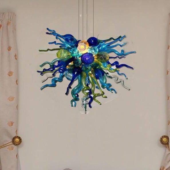 Estilo europeo sala de estar colgante colgante-lámparas boca soplado borosilicato vidrio arte foyer moderno colgante iluminación