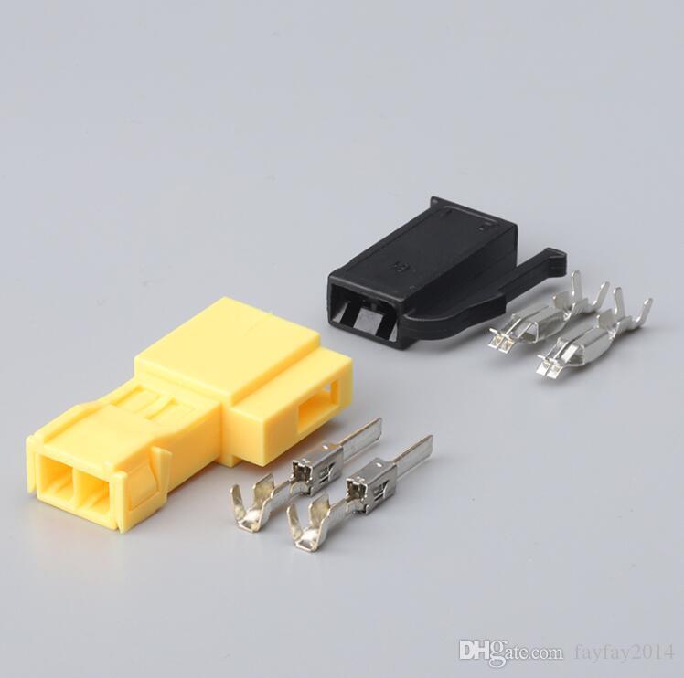 Бесплатная доставка 100set 2 Pin Автомобильный кабель Разъем автоматической проводки Разъем Женский Мужской для автомобилей Motors