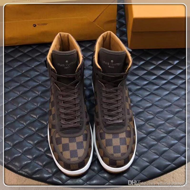 Luxe Hommes Chaussures de mode avec Origin Box Chaussures Mode à lacets Sport Hommes Chaussures de marque New Arrivée Taille 38-45