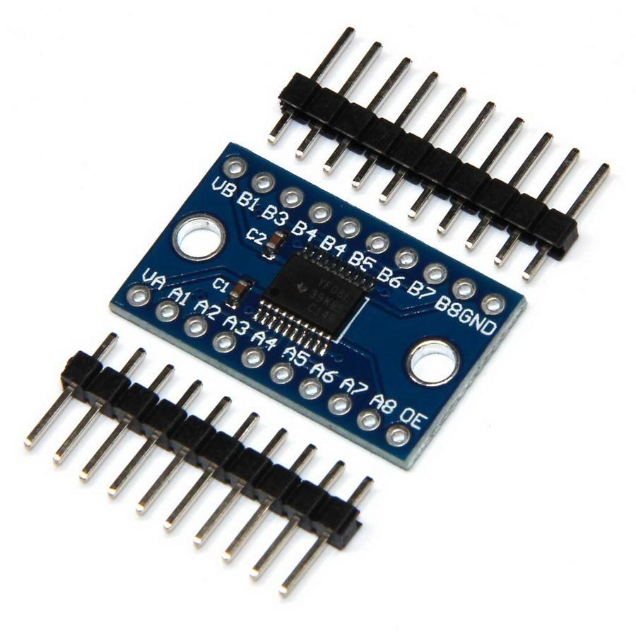100pcs 8 canales de nivel lógico bidireccional módulo convertidor TXS0108E TXB0108
