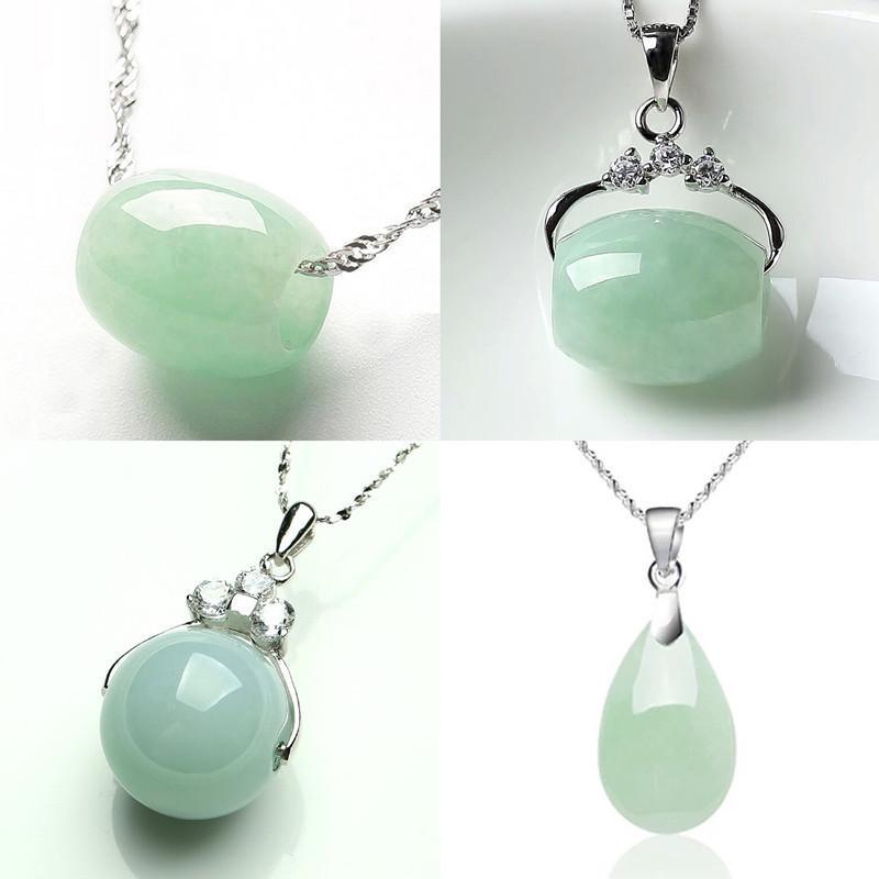 Luck naturel Jade Emeraude Pendentif Perle Charm Bijoux Accessoires de mode homme-femme Sculpté à la main Cadeaux Amulet