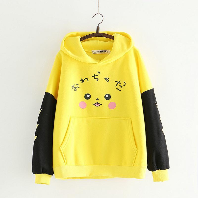 2018 Herbst und Winter Picacho gedruckt Hoodies Sweatshirts Frauen Y190830
