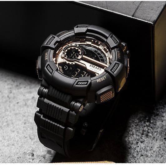 Smael Sportuhren Tarnung Watch-Band Smael Herrenuhr 50m Wasserdichte Top S Shock Watch Männer LED 1366
