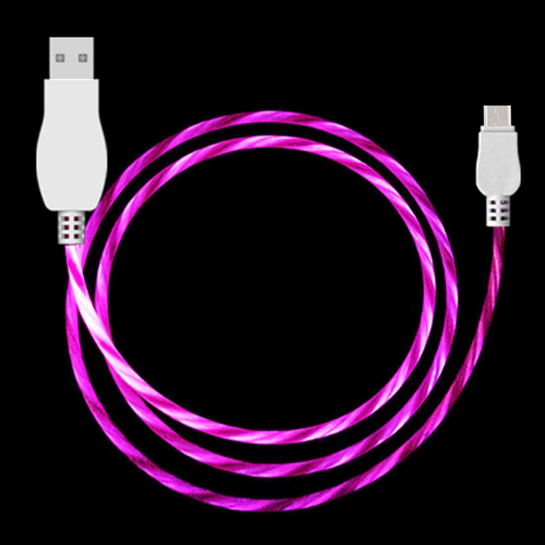 LED scorrente 1m Luce USB A a Type-C cavo della carica di sincronizzazione di dati, della galassia, Huawei, Xiaomi, LG, HTC e altri telefoni intelligenti