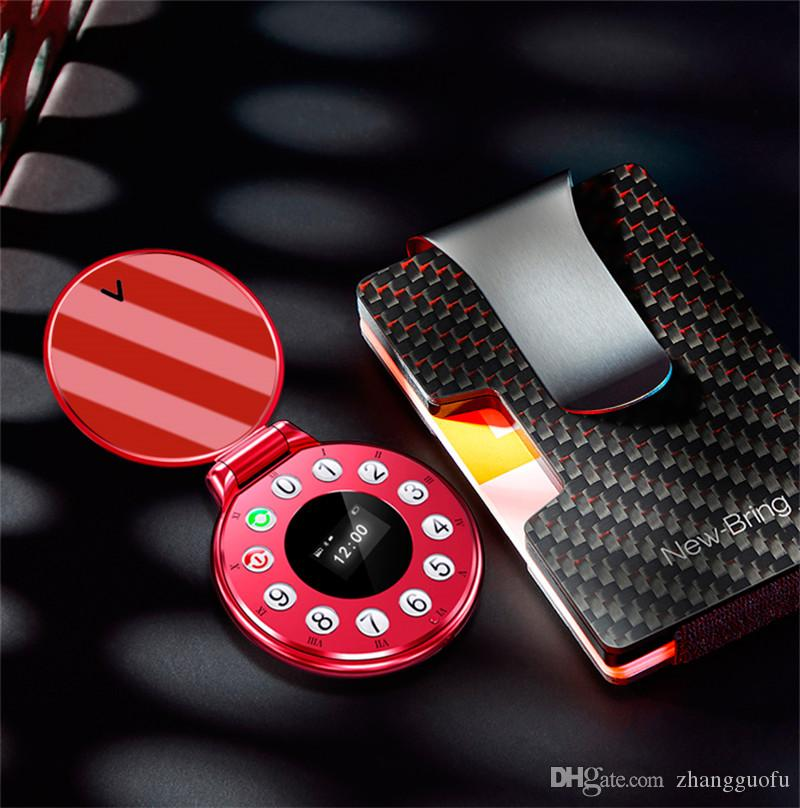 جديد فليب الهاتف 2019 aeku a8 ريترو الجيب ووتش البسيطة الهاتف المسجل بلوتوث سماعات سماعات لاسلكية صغيرة الهواتف المحمولة للأطفال