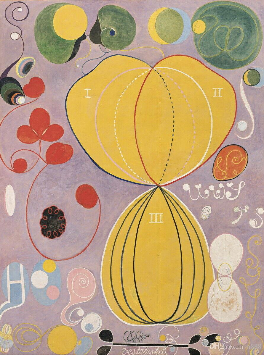 Hilma Af Klint Mundos PossÍveis Home Decor Handpainted &HD Print Oil Painting On Canvas Wall Art Canvas Pictures 191110