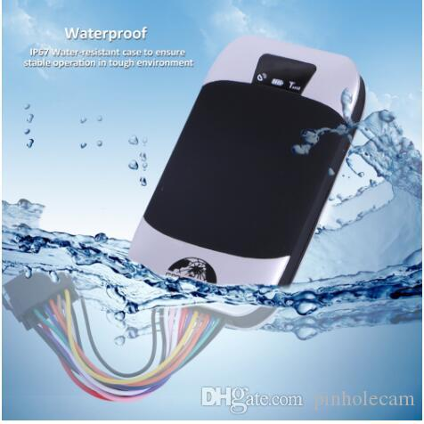 Araç Tracker GPS Locator su geçirmez Araba GPS Tracker TK303G Uzaktan Kumanda Yağ Yakıt Motor Su geçirmez Ücretsiz Web APP Kesilmiş