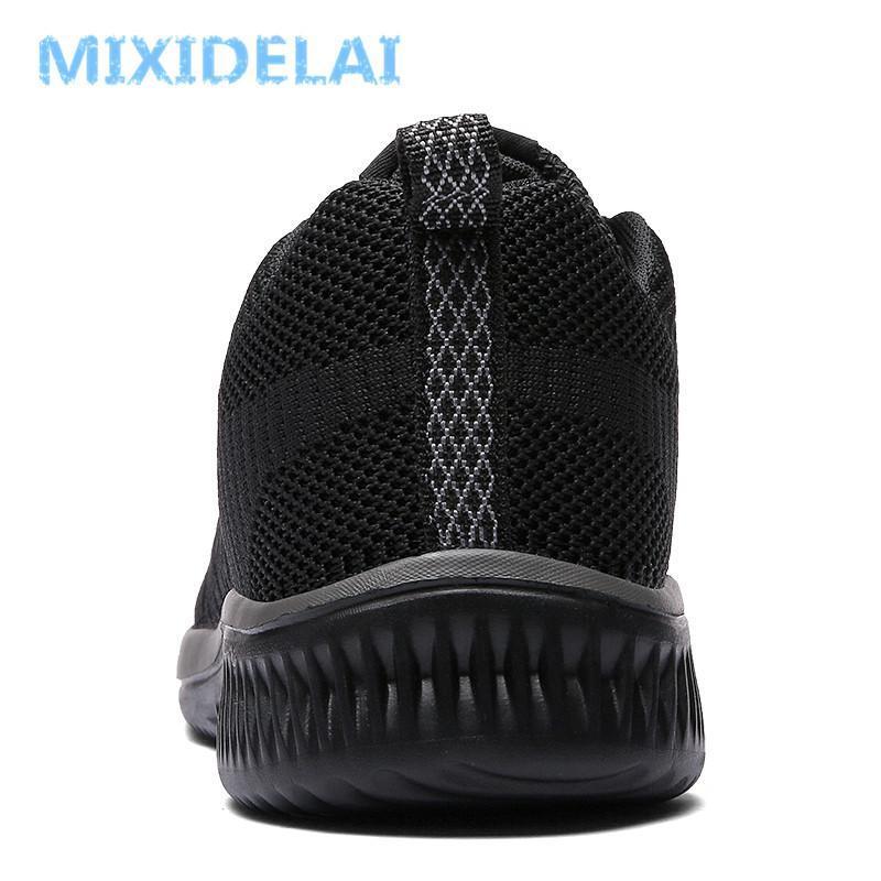 kutu MIXIDELAI Yeni Mesh Erkekler Günlük Ayakkabılar Lac-up Erkekler Ayakkabı Hafif Rahat Nefes Yürüyüş Sneakers Tenis Feminino ile