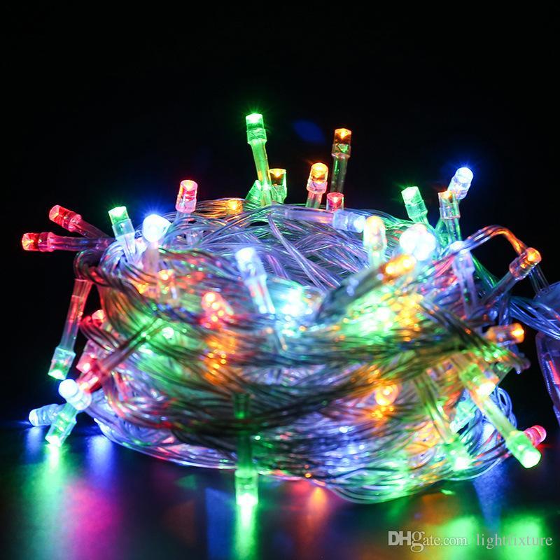 Su geçirmez Açık LED Dizeleri Garland Işık Bahçe Avlu Tatil Peri Aydınlatma Noel Düğün Parti Işık Dize Için